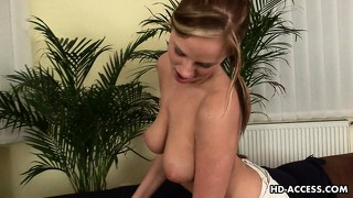 Busty young cutie, carmen, is a cock sucking genius and proves it