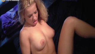 Amateur young blonde threesome home