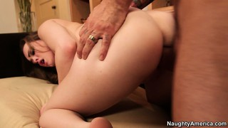 After banging the sweet spot of monica rise she gets on her knees for a facial