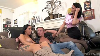 Megan foxx has her horny mom zoey holloway join in