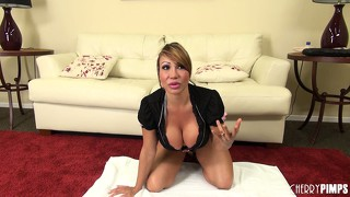 Ava devine is one hot milf with huge hooters that likes big dildos