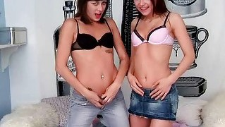 Naughty teens fucking each other