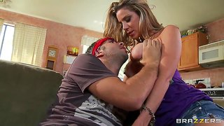 Adorable milf kayla paige pov in blowjob scene with keiran leein