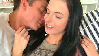 Enjoy beautiful young sex doll andrea fucking hard with her new boyfriend