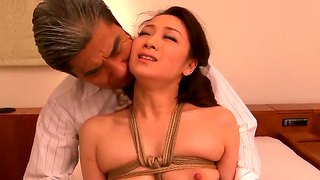 Japanese housewife yuu kawakami gets fingers and dick in her holes