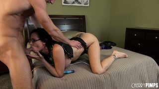 Tory lane uses her oversized clitoral stimulator to whip up some fanny batter