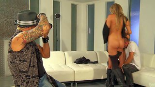 Samantha saint and aleksa nicole are sinfully sexy adult models with perfect bodies. blonde and brunette bare their asses and take cock on camera. gorgeous women in boots suck his cock and get nailed.
