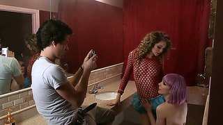 Jessie andrews and lily labeau lick each others snatches fro guy to watch