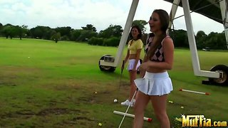 Molly cavalli playing golf with her sexy friends