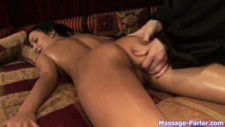 Ass and pussy massage in a sensual lesbian massage porn video