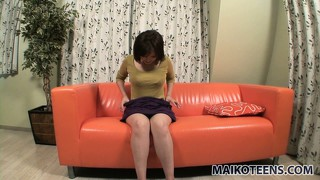 Kazumi, a pretty asian babe with perky tits and sexy legs, has wild desires to fulfill
