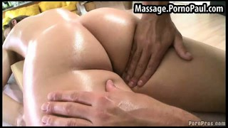 Massage, Guy, Teen, Brünette, Arsch