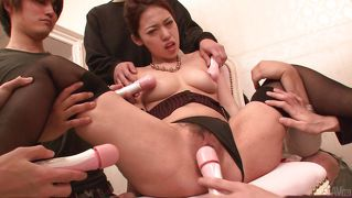 Asian babe made to squirt