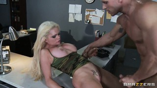 Alexis ford sucks cock until she gets some cum on her slutty mouth