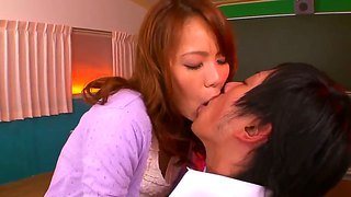 Look at sexual flirtatious japanese chick eri ouka fooling around