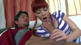 Cute redhead marie mccray gets her pink pussy stuffed