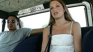 Rebecca agrees to jump in a car with two strangers