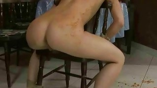Hot girl gets tied up and fucked rough