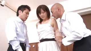 Office slut groped and fingered