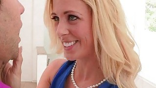 Big boobs stepmom cherie deville 3some with teens