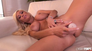 Hot busty blonde tash reign goes solo and toys, fingers her hole