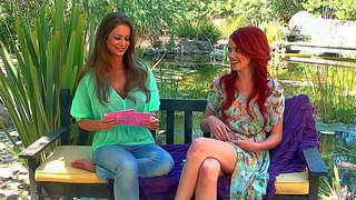 Sexy and pale arousing redhead elle alexandra enjoys in giving an interview and teasing along the way, when she takes off top of her clothes during the talking for the cam