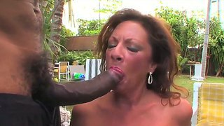 Always hot and experienced mature margo sullivan enjoys hard black dicks in her holes
