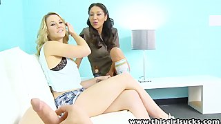 Thisgirlsucks sierra day vicki threesome blowjob handjob