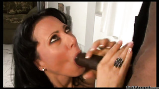 Zoey holloway has fire in her eyes as she gets her throat drilled by sean michaels
