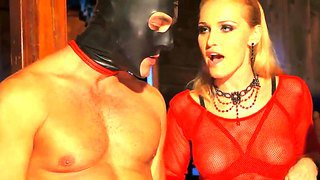Kathia nobili, sophie lynx and their hot boyfriend in the fetish domination scene