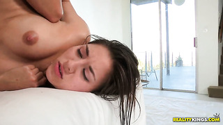 Brunette celeste star is good at pussy licking and her lesbian girlfriend shyla jennings knows it