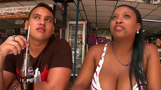 Awesome chick michelle seduces a young dude with her tremendous knockers and he makes a tough titjob