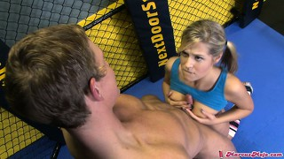 Sweet hoe with delicious snatch gets licked by her personal sport instructor