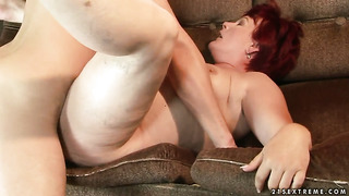 Redhead eszmeralda needs nothing but her man's hard meat pole in her mouth to be happy