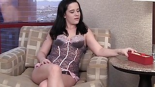 Mature dildo insertion