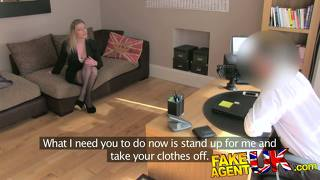 Fakeagentuk stocking clad posh milf willing to try it all on