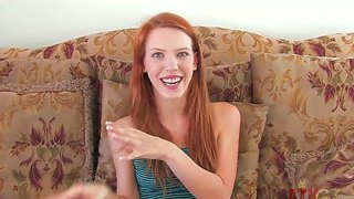 Redhead teen pepper kester enjoys getting teased during naughty porn casting interview