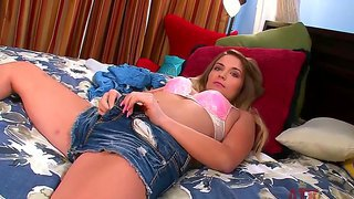 Sweet and kinky casey stone pleases herself with a super hot solo masturbation scene
