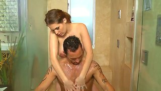Hot sex in the shower with allison moore and strong marcus london