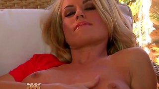 Pretty blonde bitch randy moore always masturbates
