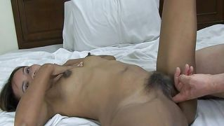 Sextape with tanned asian milf