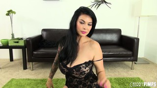 Tera patrick crawls around on the floor like the dirty whore she is