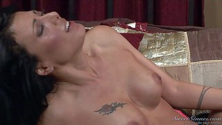 Young pussy loving handsome stud rocco reed gets seduced by tattooed black haired milf zoe holloway with perfect hooters and lets her play with his stiff meaty pecker in hot bedroom session