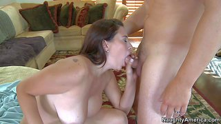 He catches bbw maid selena castro totally naked and he finds her sexy. this chubby brunette with huge natural tits gets her pussy eaten and fucked while jerry's wife is out of town.