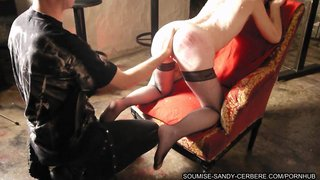 French libertine rough sex fisting and hogtied