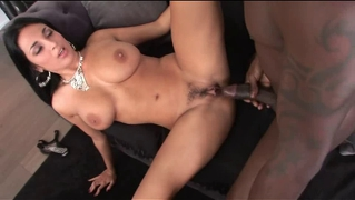 Gorgeous french brunette whore pleased by bbc
