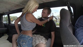 Big racked milfy pornstar puma swede picks up a guy next door and satisfies his sexual needs. she bares her tanlined big melons. he licks her tits and then finds his hard dick in her mouth!