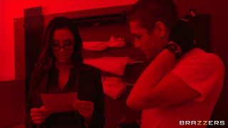 Sexy photography teacher fucks a college student in the dark