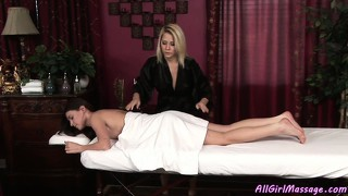 An ordinary massage turns into a sexy lesbian lust fest and pussy licking party