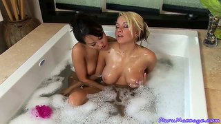 Relaxation after practice. asa akira and briana blair have sex.
